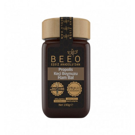 BEE'O Carob Raw Honey Propolis 190gr