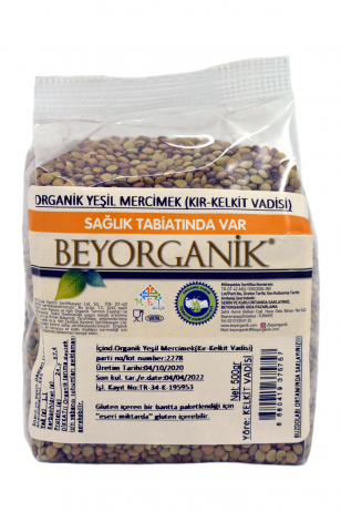 BEYORGANIC Green Lentil-Red-500gr